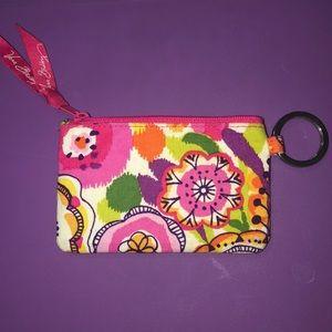 brand new vera bradley zip ID wallet/ case